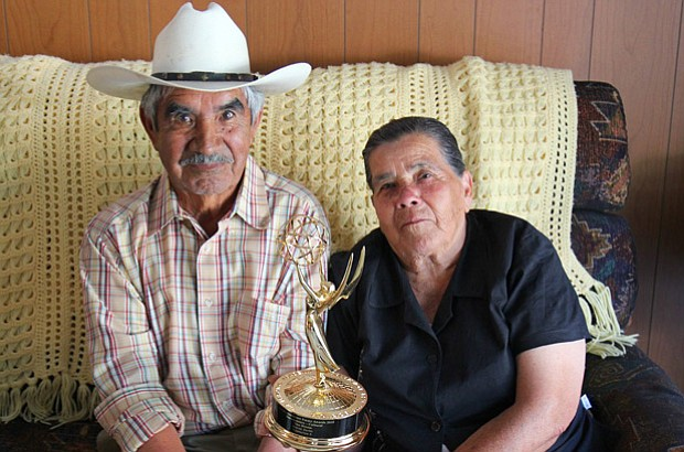 Ramon and Aurora and the Emmy Award for their documentary,
