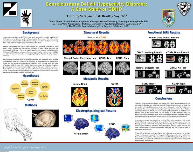 The poster that Bradley Voytek and Timothy Verstynen debuted at an academic c...