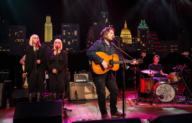 Jeff Tweedy, joined by his son Spencer and members of the band Lucius, perfor...