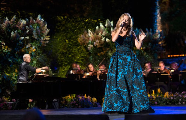 Jackie Evancho performs in the Longwood Gardens Open Air Theatre in Brandywin...