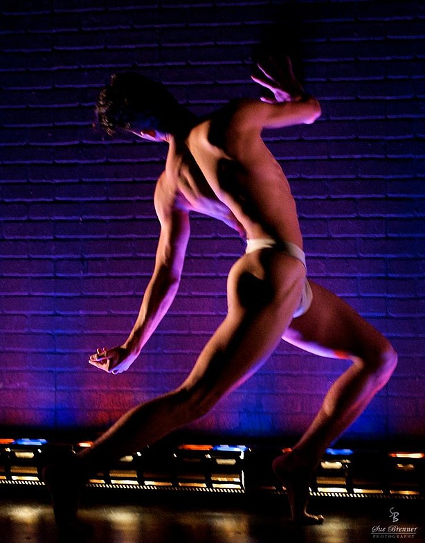 "Chad Ortiz dances solo in Michael Mizerany's ""Via Dolorosa,' one of the dance..."