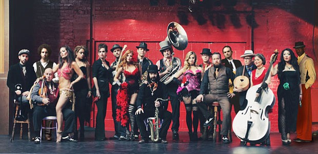 Vaud and the Villains, a 19-piece 1930s New Orleans orchestra and cabaret show.
