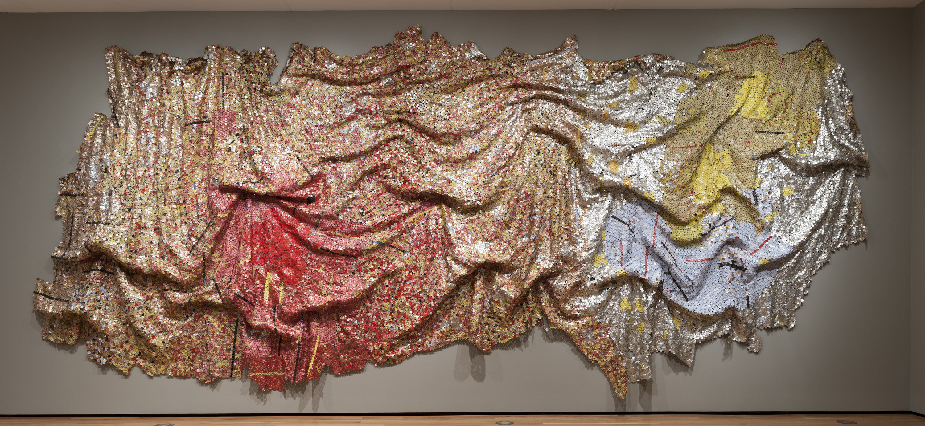 Stunning El Anatsui Exhibit On Display At Museum Of