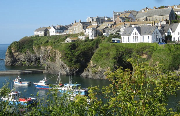The Town Of Port Isaac In England Location Used Doc Martin Series