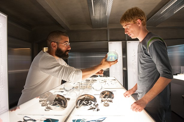 Oscar Isaac and Domhnall Gleeson debate what it is that makes us human in the...