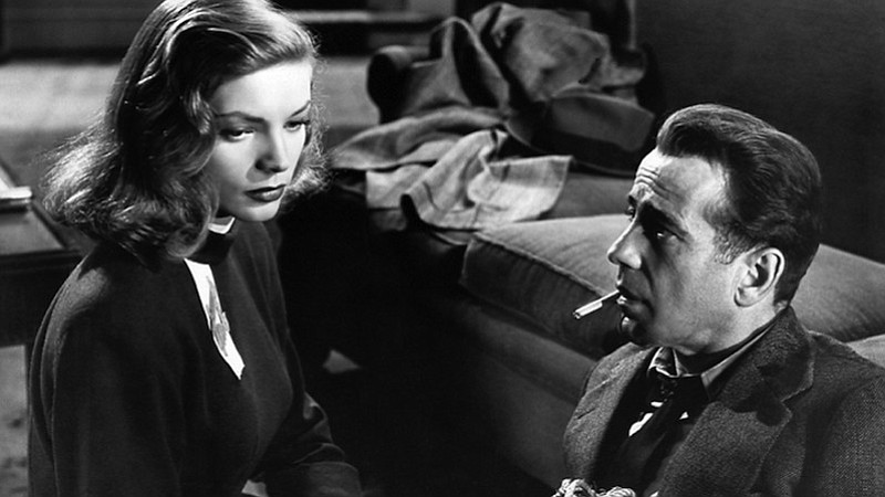 Lauren Bacall and Humphrey Bogart star in one of the classics of film noir,