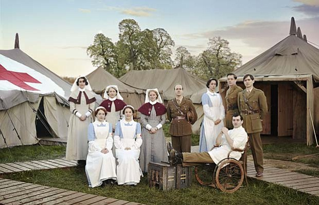 (c/w from back left) Sister Joan Livesey (Suranne Jones), Sister Margaret Qua...