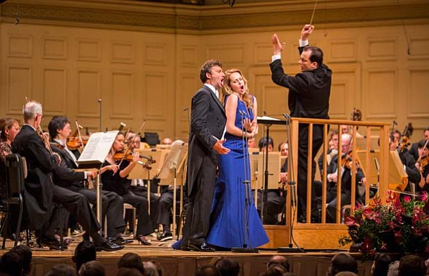 Jonas Kaufmann, Kristine Opolais and Andris Nelsons as seen in GREAT PERFORMA...