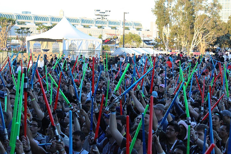 The crowd at the surprise Star Wars concert performed by the San Diego Sympho...