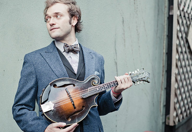 A portrait of mandolin player Chris Thile, who was tapped by Garrison Keillor...