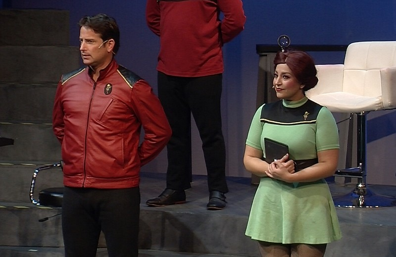 David S. Humphrey is Captain Tempest and Marlene Montes is the ship's science...