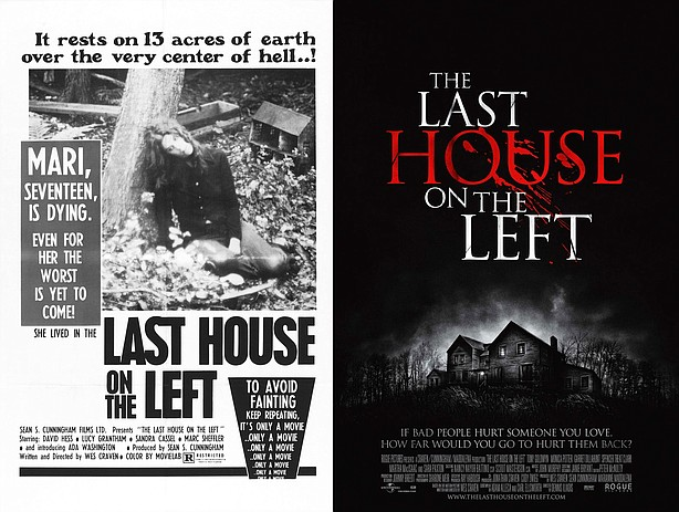"Posters for ""The Last House on the Left,"" 1972 and 2009."