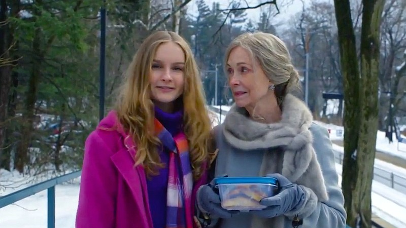 Becca (Olivia DeJonge) meets her grandmother Nana (Deanna Dunagan) for the fi...
