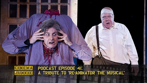 "Dr. Hill (Jesse Merlin) doesn't let decapitation slow him down in ""Re-Animato..."