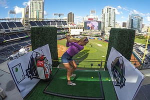 Padres Ballpark Transformed Into Nine-Hole Golf Course
