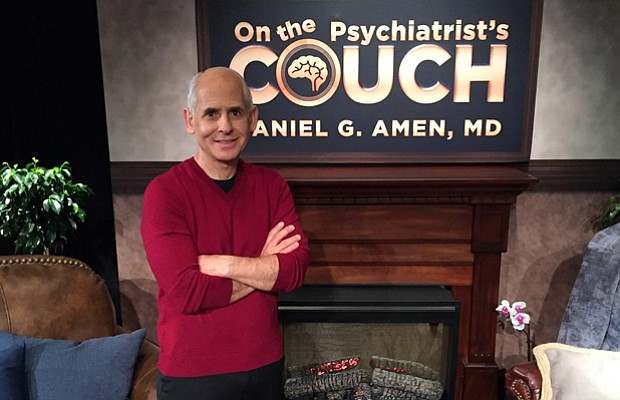 Dr. Daniel Amen on the set of