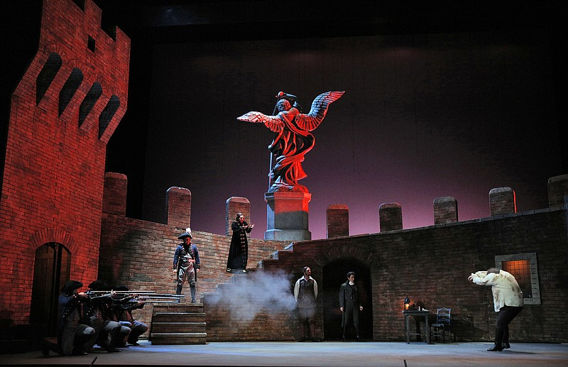 The impressive Act Three set for San Diego Opera's