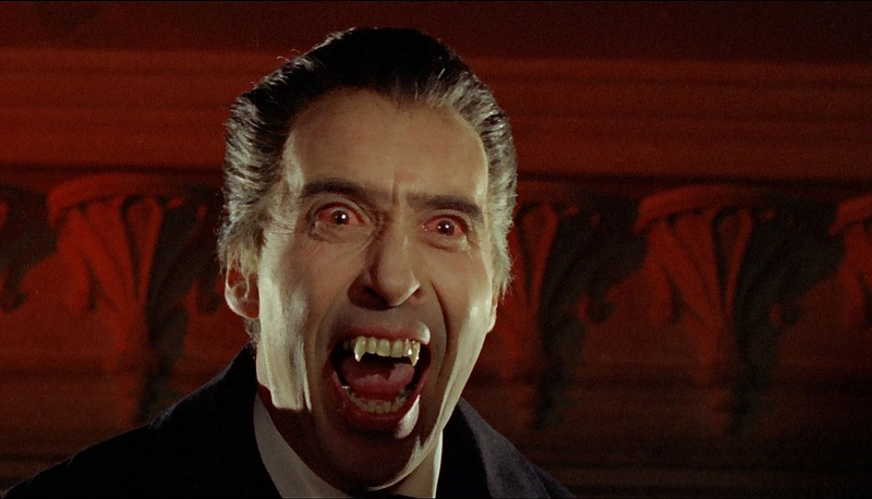 Christopher Lee stars as the famous blood sucking count in