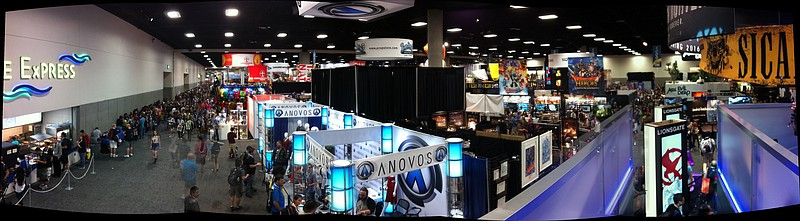 The view from the Lionsgate booth at Comic-Con last year.