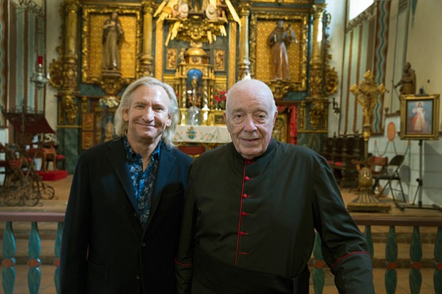 Musician Joe Walsh and Monsignor Francis J. Weber, an unlikely duo that has w...