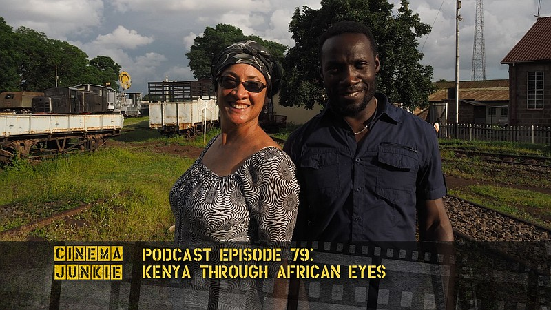 First-time filmmaker Bettina Ng'weno and Charlie Oundo, the cinematographer, ...