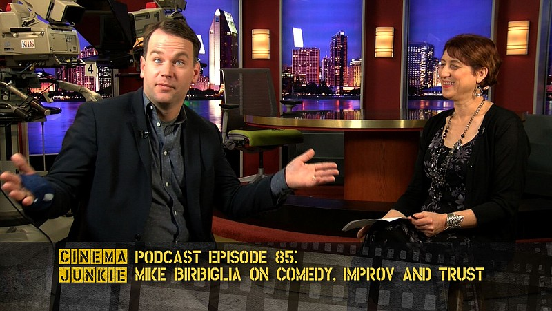 Mike Birbiglia stopped by the KPBS studio for a podcast with Cinema Junkie Be...