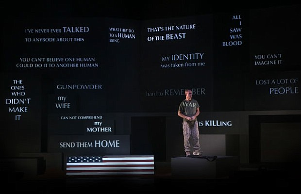 """A scene from """"Soldier Songs,"""" an opera by David T. Little."""