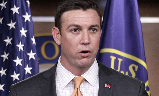 Rep. Duncan Hunter, R-Alpine, speaks during a news conference on Capitol Hill...