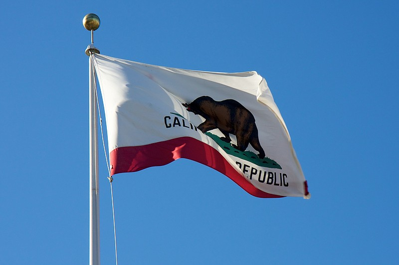 A California flag in San Francisco, April 24, 2011.