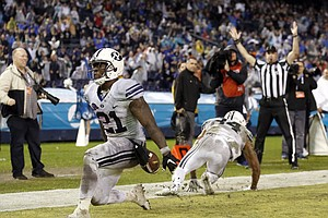 Williams Runs For 210 Yards, TD In BYU's Poinsettia Bowl Win
