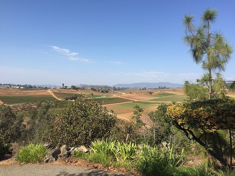 A view of the Valley Center countryside where the Lilac Hills Ranch was plann...