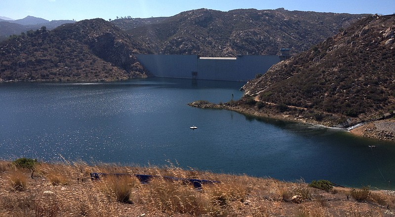 San Vicente Reservoir in East County is part of San Diego's network of emerge...