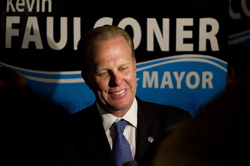 Kevin Faulconer on the night of the mayoral runoff election, Feb. 11, 2014.