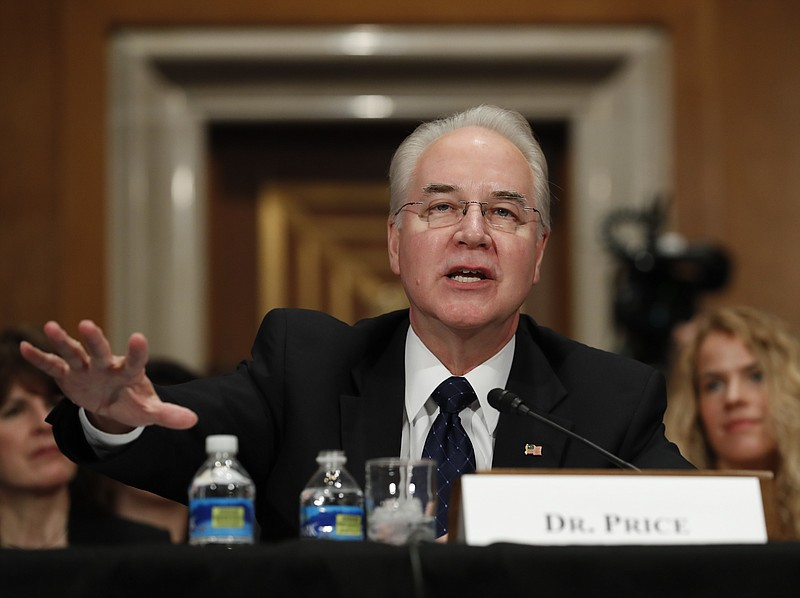 Health and Human Services Secretary-designate, Rep. Tom Price, R-Ga. testifie...