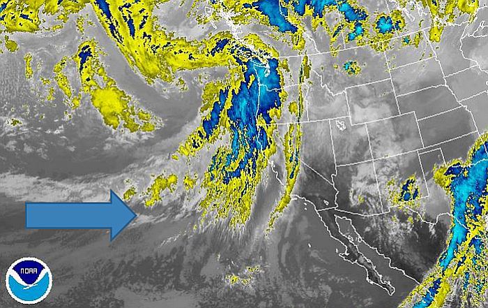 The first in a series of storms lined up in the Pacific is expected to hit Sa...