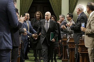 Gov. Jerry Brown Delivers State Of The State Address Amid...