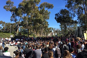 UCSD Students Protest President Trump's Immigration Ban