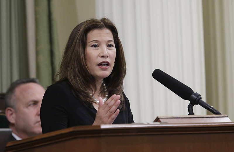 California Supreme Court Chief Justice Tani Cantil-Sakauye gives her State of...