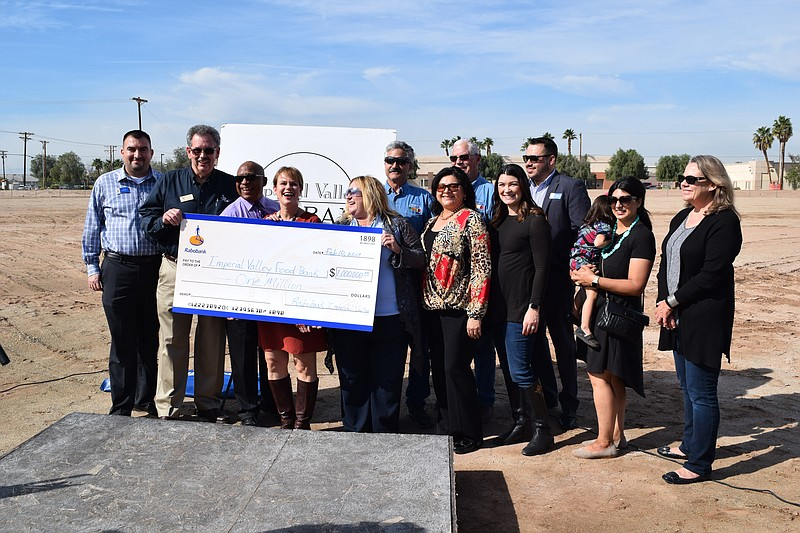 Sara Griffen, executive director of the Imperial Valley Food Bank, along with...