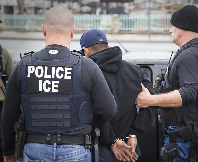 This photo released by U.S. Immigration and Customs Enforcement shows foreign...