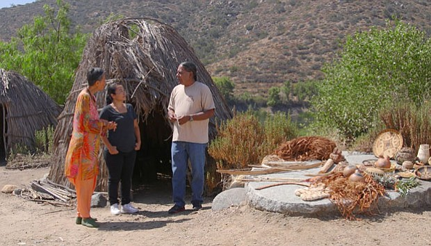 Host Su-Mei Yu discusses native foods with Kristine Orosco and Stan Rodriguez...