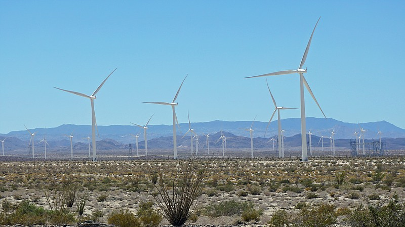 A wind farm outside San Diego is shown in this undated photo.