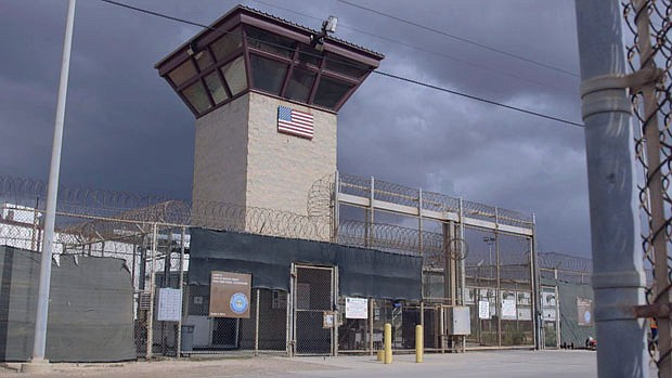 This photo shows the outside of Camp VI at the Guantanamo Bay prison in Cuba....