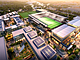 A rendering of the proposed soccer stadium in Mission Valley, courtesy FS Investors.