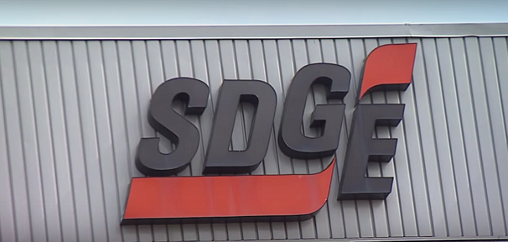 A sign on SDG&E's headquarters appears in this undated photo.