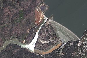 California Dam Spillway Outflow Slowed To Clear Debris