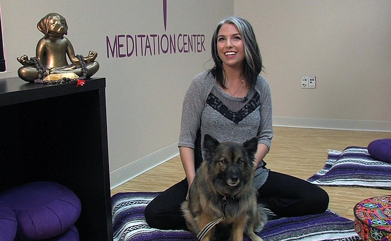 Amanda Ringnalda and her dog Pepper during a Wellbeing for Dogs + Their Human...