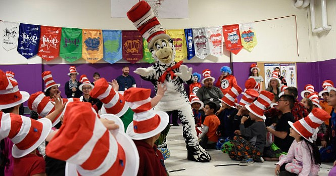 The National Education Association's Read Across America campaign is shown in...