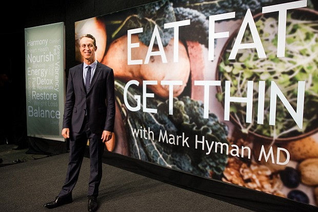 Dr. Mark Hyman on the set of his new program,