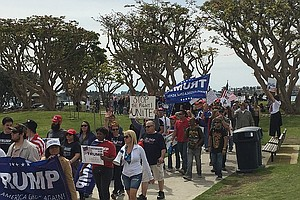 San Diego Supporters Join Nationwide 'March 4 Trump'